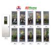DREAMDOOR PVC Door & Jamb Set w/ Glass Design 60x210cm 35mm thick