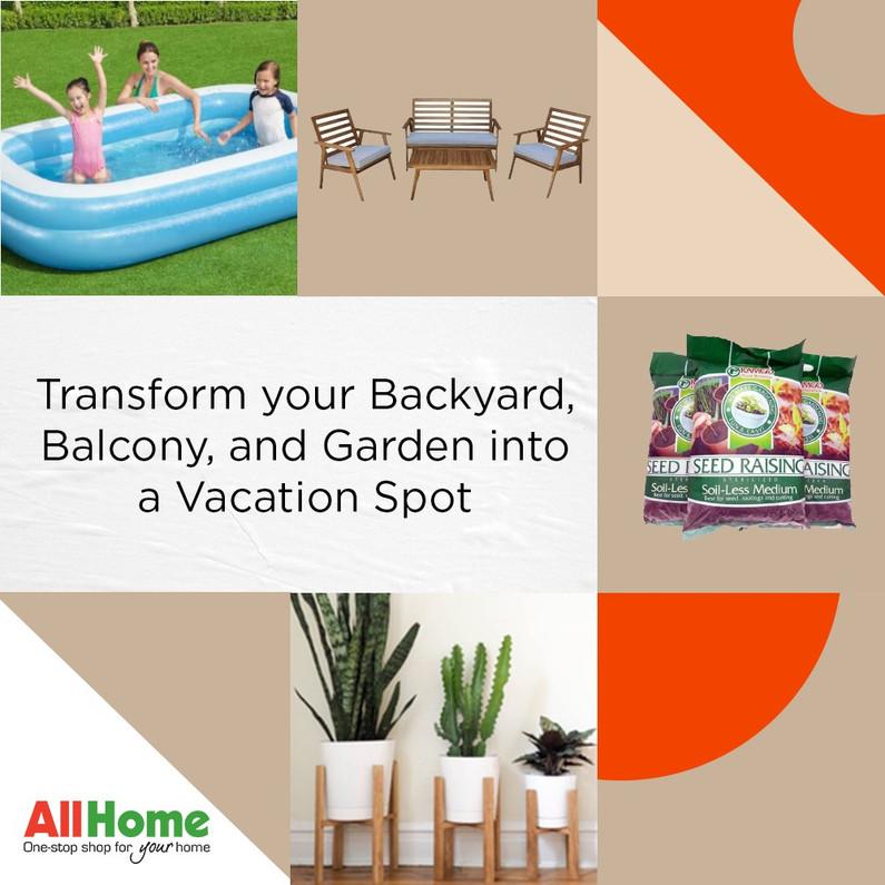 Transform your Backyard, Balcony, and Garden into a Vacation Spot | allhome.com.ph