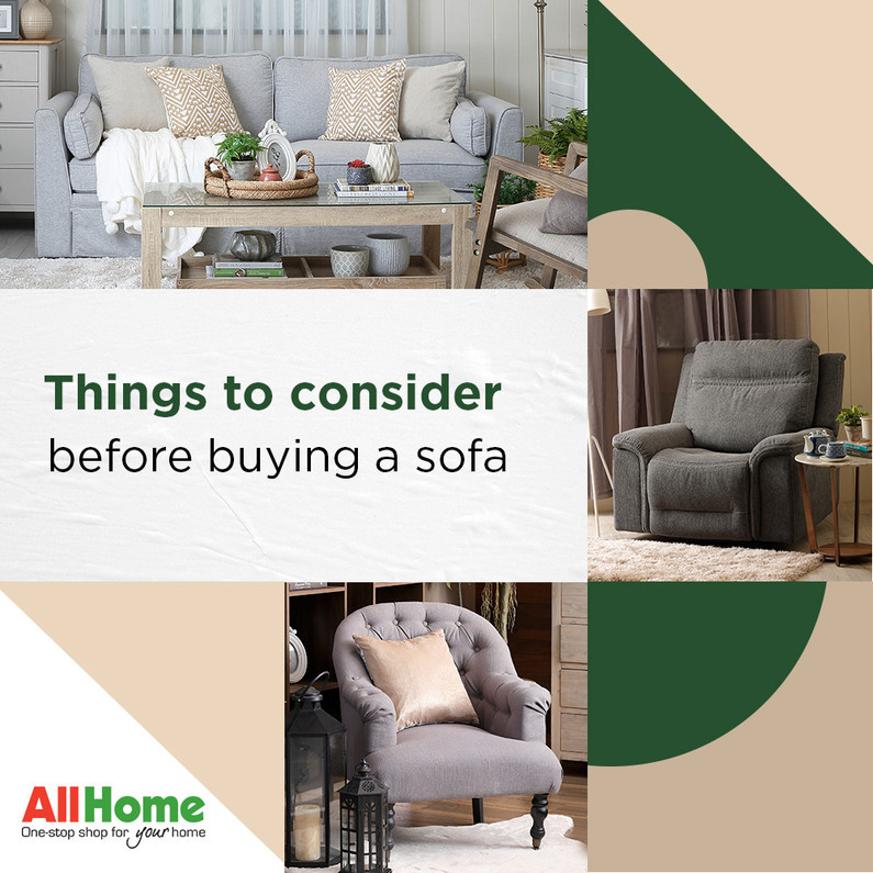 Things to Consider Before Buying a Sofa | allhome.com.ph