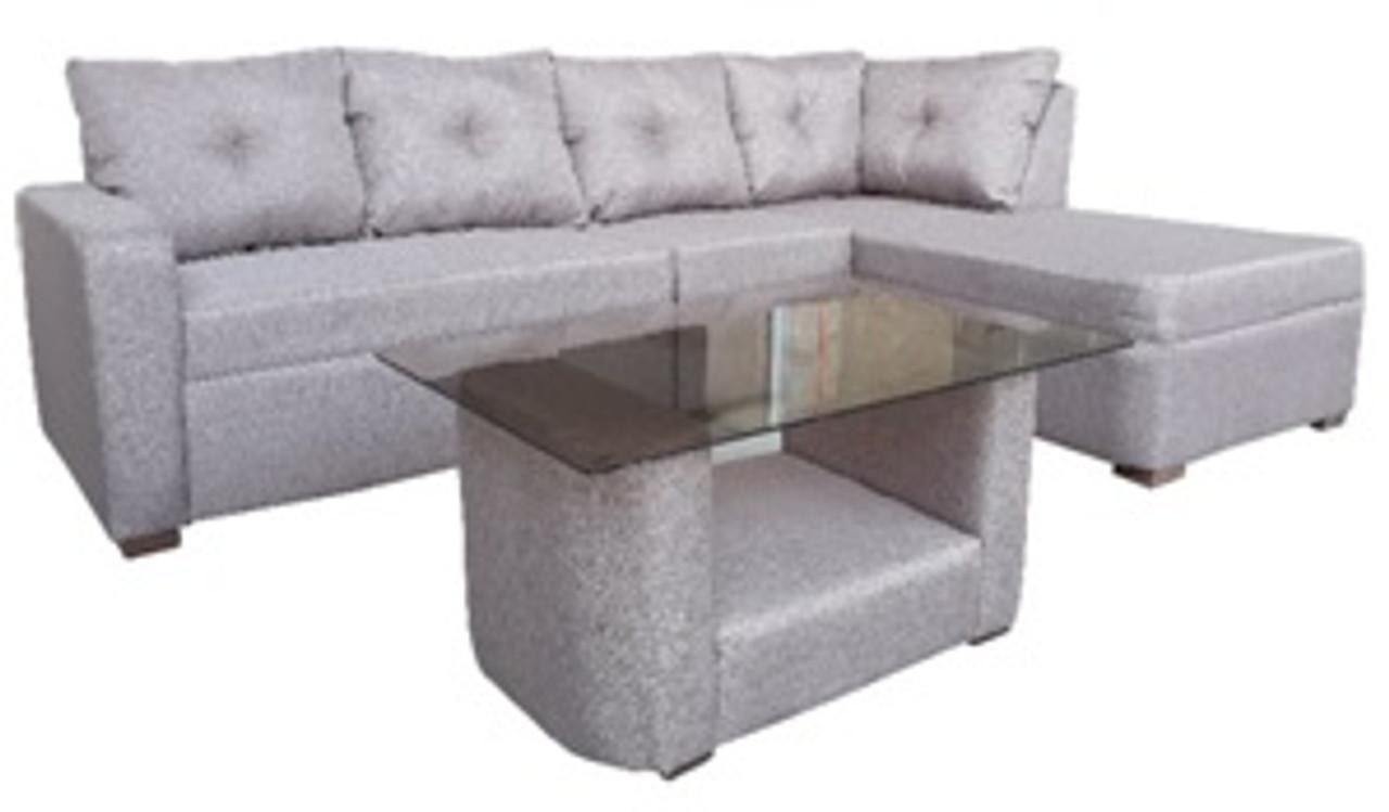 Eaton Corner Sofa Set W Center Table