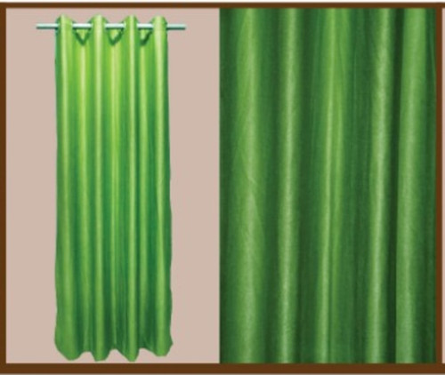 """Style And Collection 55""""x84"""" Forest Green Semi Black Out Curtain"""