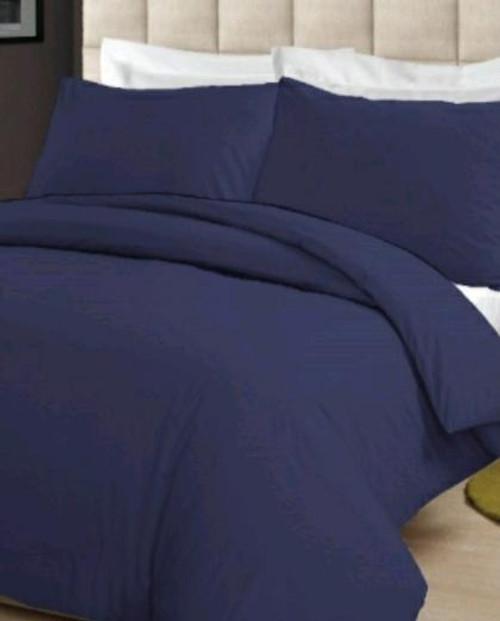 Modern Linens Full Powder Blue 3-Piece Fitted Bedsheet Set