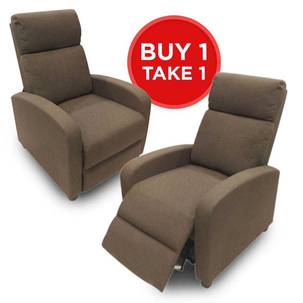 BUY 1 TAKE 1! LYON 1 SEATER PUSHBACK RECLINER
