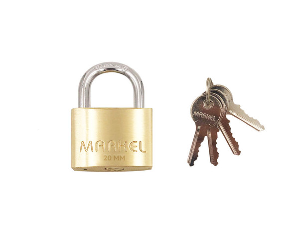 BRASS PADLOCK SHORT SHACKLE 20MM