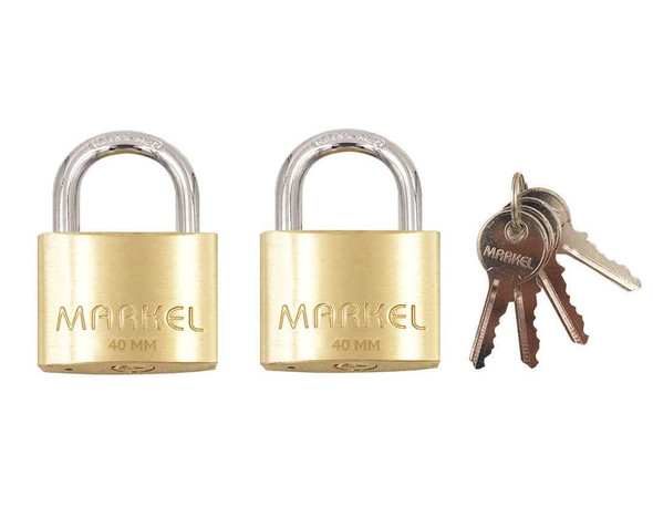 PADLOCK SHORT SHACKLE 2-KEYS ALIKE 40MM