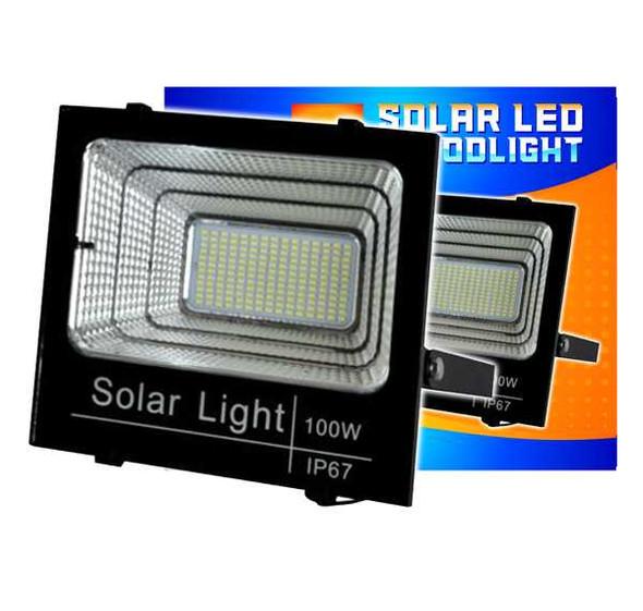 EUROLUX LED FLOODLGHT W/SOLAR PANEL 100W