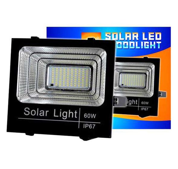 EUROLUX LED FLOODLIGHT W/SOLAR PANEL 60W