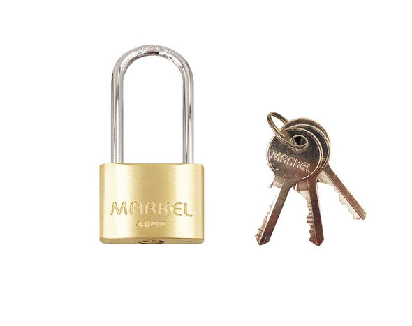 BRASS PADLOCK LONG SHACKLE 40MM