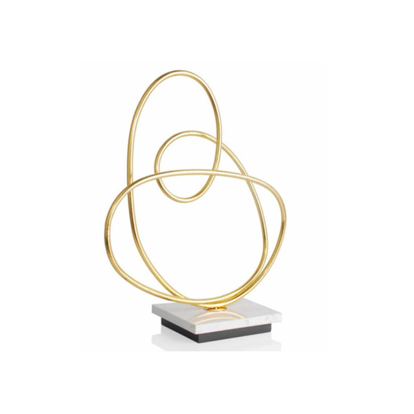 H0328 Abstract Sculpture Antique Gold