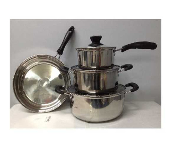 CKMCS-7 STAINLESS STEEL COOKWARE SET