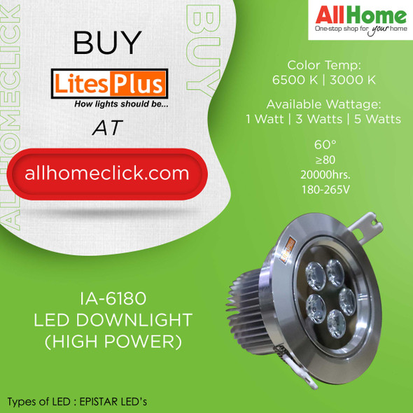 LITESPLUS IA-6180 LED DOWNLIGHT
