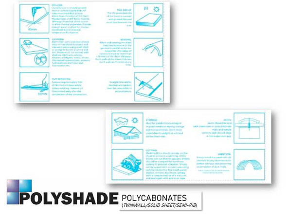 Polyshade Polycarbonate Semi-Rib Roofing 4ftx1ftx1.2mm