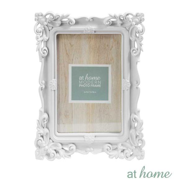 Athome Shaira A Plastic Photo Frame White 5x7