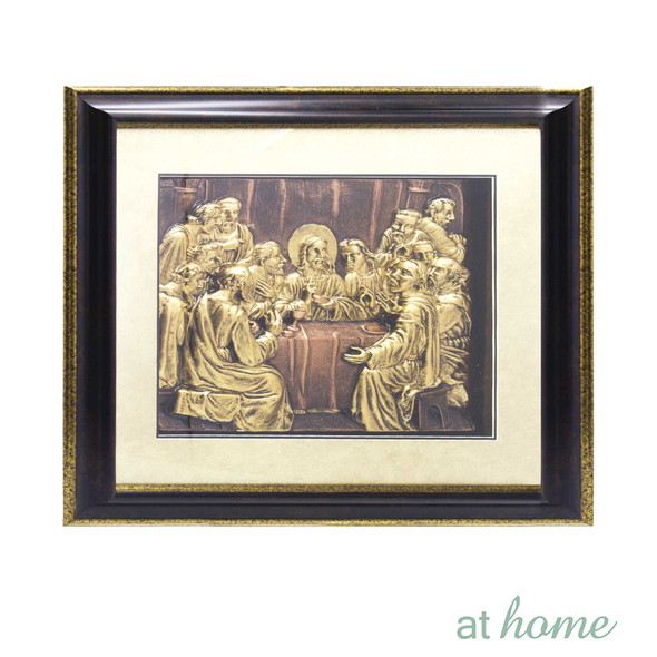 Athome Last Supper (Medium) Wall Frame dark brown
