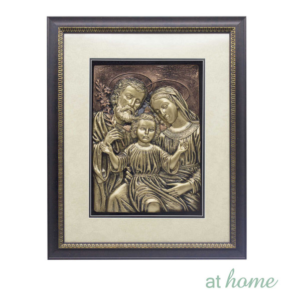 Athome Holy Family – 3D Wall Frame Dark brown