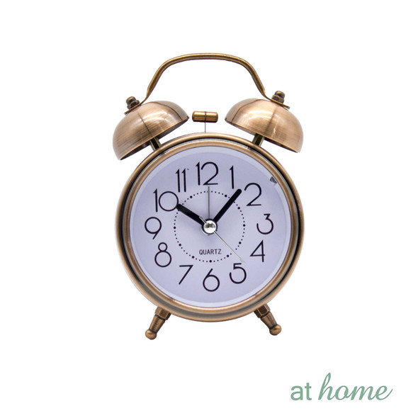 Athome Brandie Vintage Table Clock Rose Gold