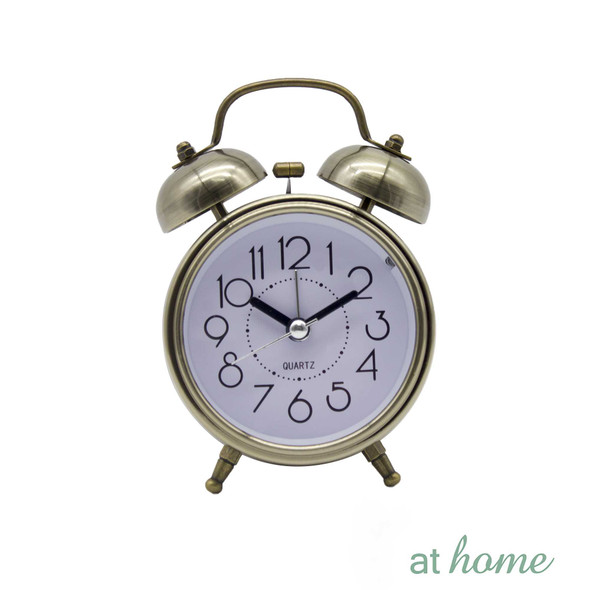 Athome Brandie Vintage Table Clock Bronze