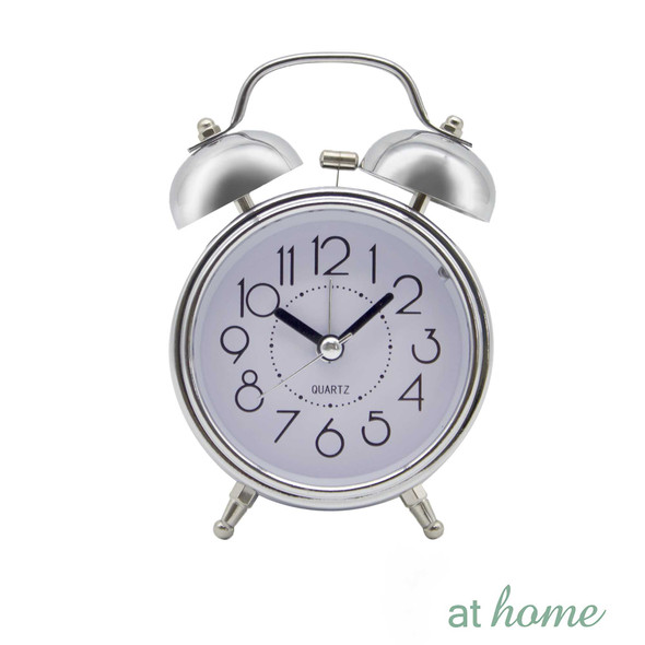 Athome Brandie Vintage Table Clock Silver