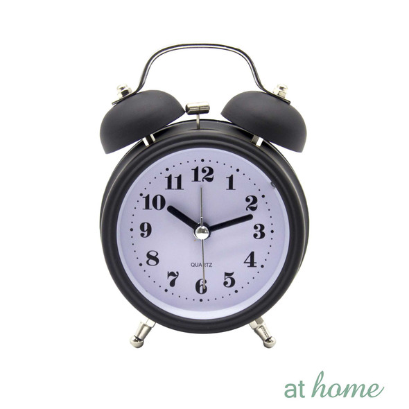 Athome Brianna Vintage Table Clock Black