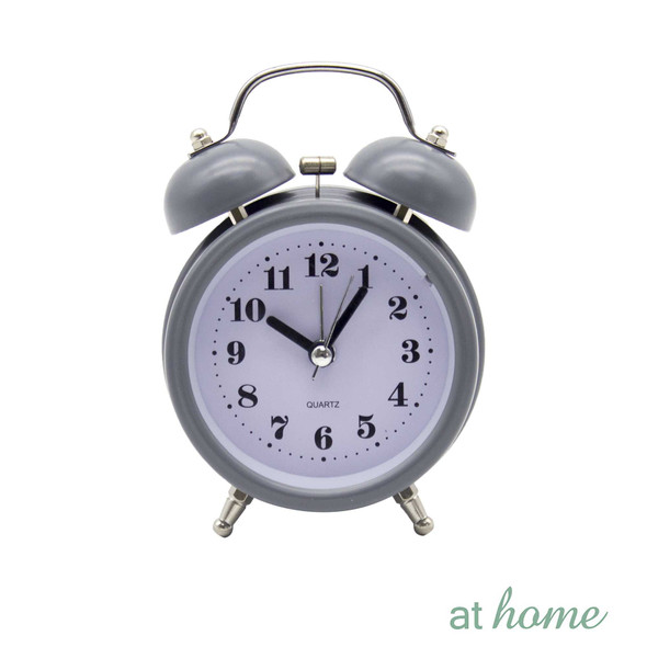Athome Brianna Vintage Table Clock Gray