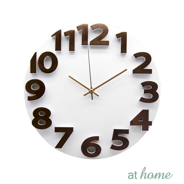 Athome Wallace Wall Clock White