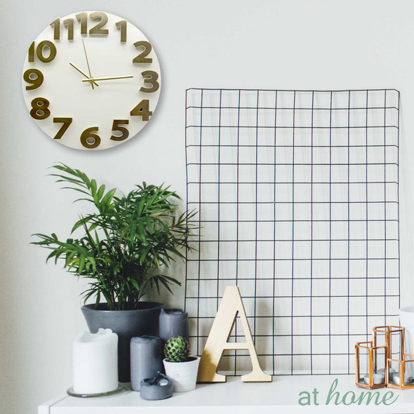 Athome Wallace Wall Clock Cream
