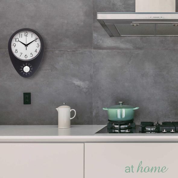 Athome Dew Wall Clock Black