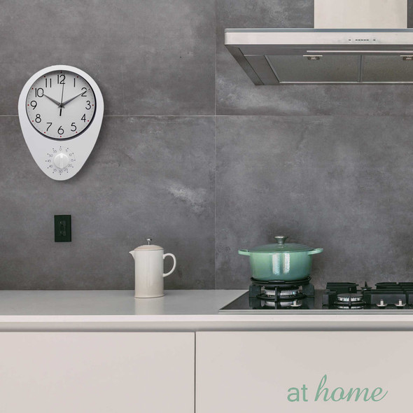 Athome Dew Wall Clock White