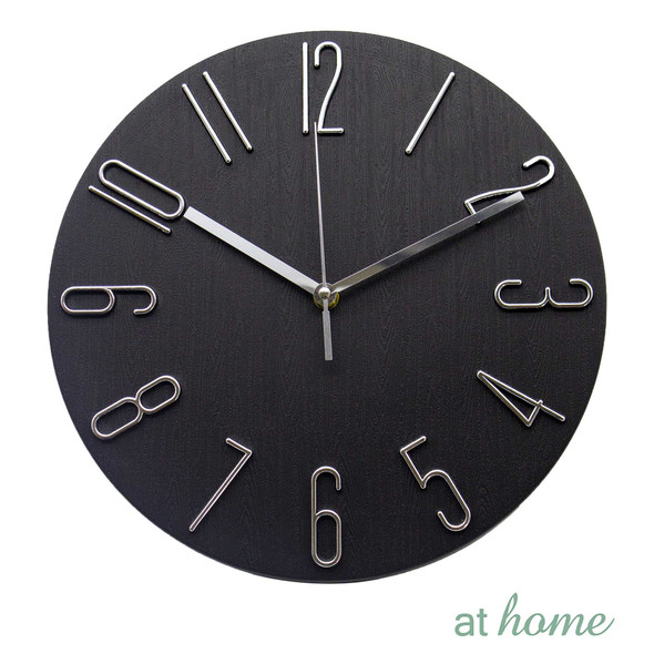 Athome Wallace Wall Clock Black
