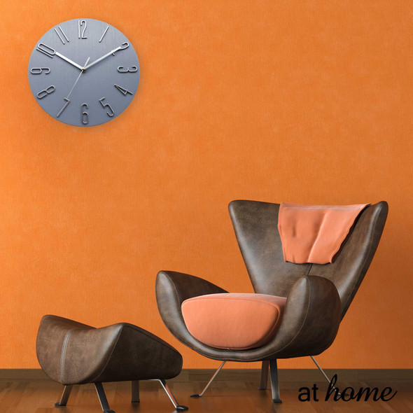 Athome Wallace Wall Clock Wht