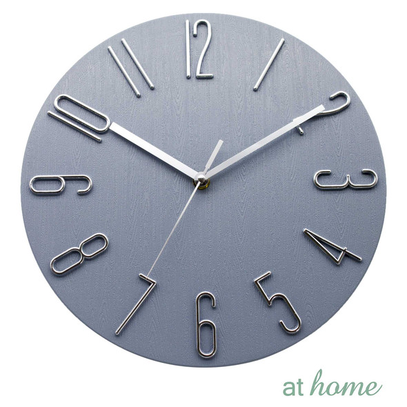 Athome Wallace Wall Clock Gray
