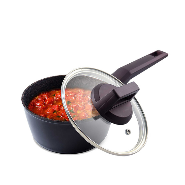 RADIANCE 16CM FORGED SAUCEPAN WITH GLASS LID