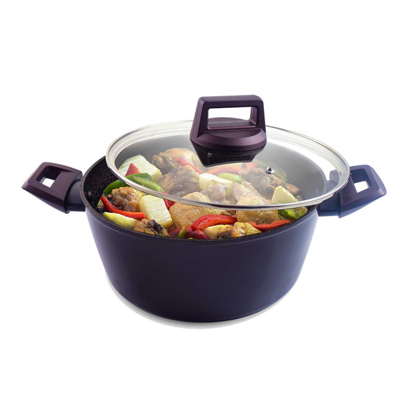 RADIANCE 20CM FORGED SAUCEPAN WITH GLASS LID