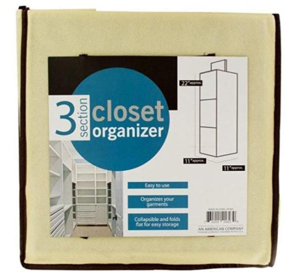 OF460 3 Section Closet Organizer
