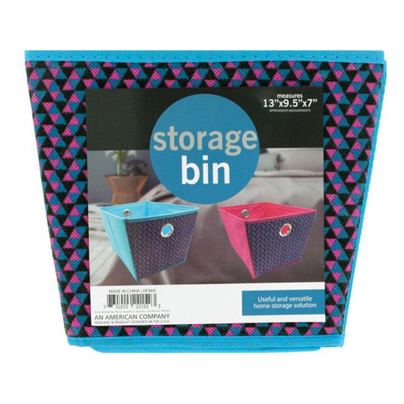 OF869 Cloth Storage Bin with Handle