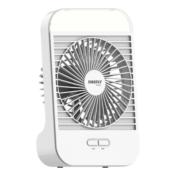 FIREFLY FEL651 RECHARGEABLE FAN W/NIGHT LIGHT 5""
