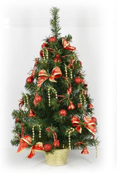 Decorative Christmas Tree Pot Red ( DX128)