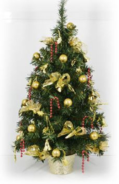 Decorative Christmas Tree Pot Yellow ( DX1218)