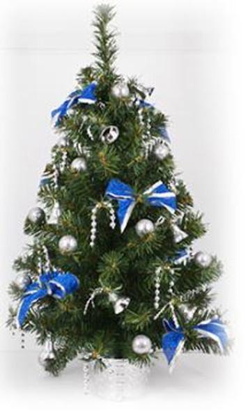 Decorative Christmas Tree Pot Blue ( DX1218)