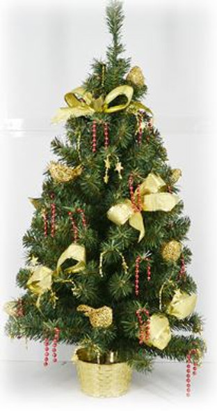 Decorative Christmas Tree Pot Yellow (DX1536)