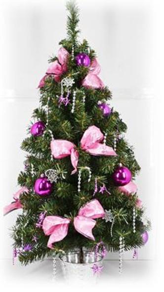 Decorative Christmas Tree Pot Pink(DX1536)