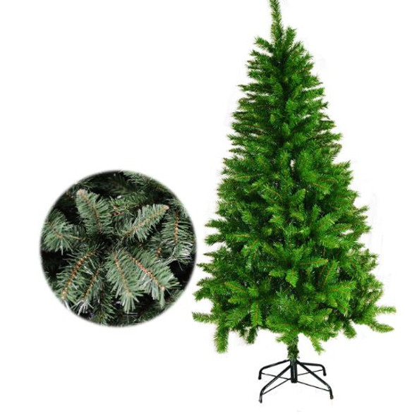 7ft Christmas Tree Vinyl Balsam with Metal Footings (XD7014)