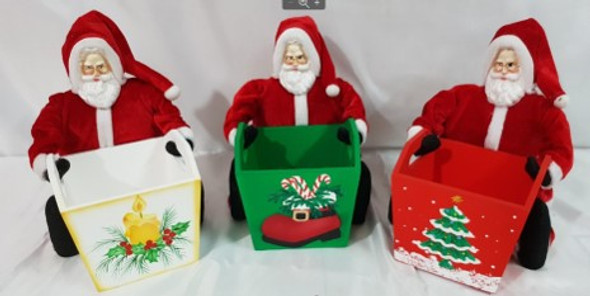 Santa Small Basket Asstd Design