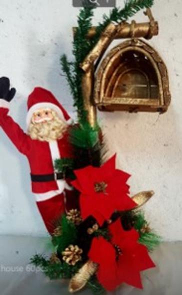 2ft Santa Dangling Birdhouse