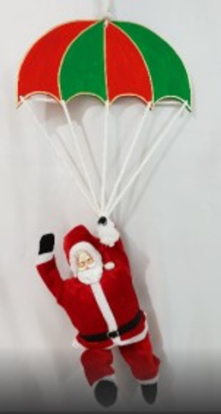 Hanging Wood Parachute- Red/Green