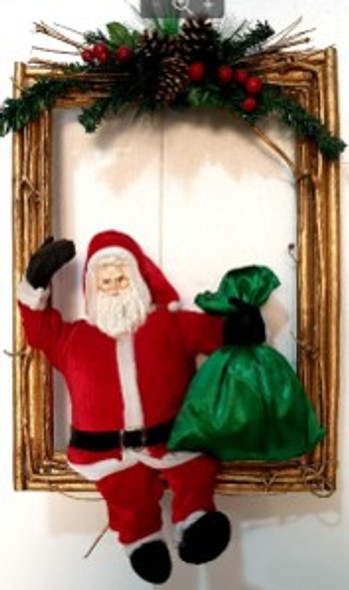Santa Frame Twig Medium
