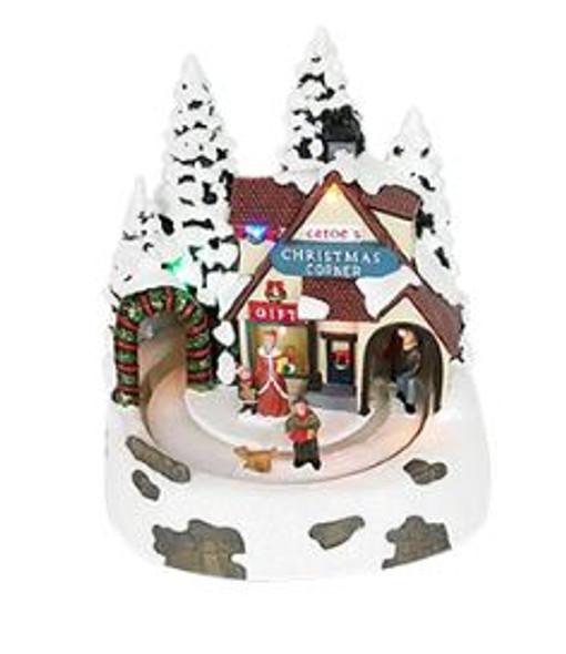 SEM7111 Christmas Shop Lighted/Musical