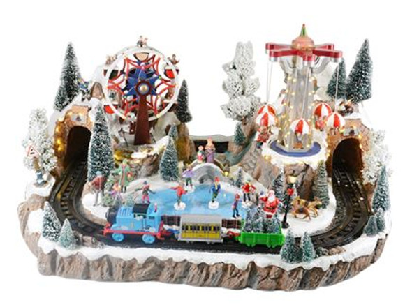 SEM7119 Christmas Amusement Park Lighted/Musical