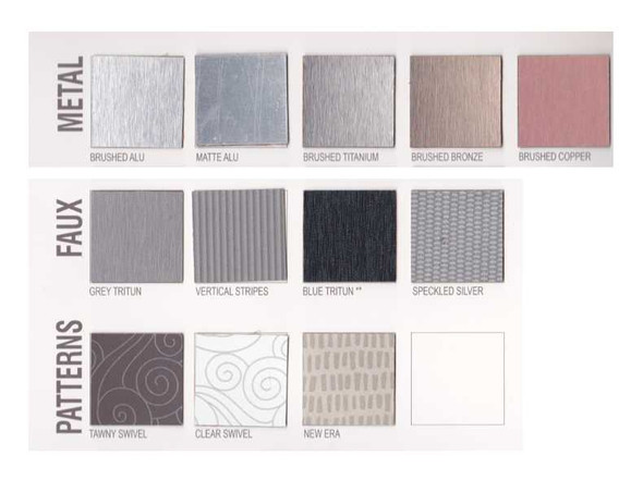 Multi Form Laminates 4x8ft Metal; Faux and Patters Series