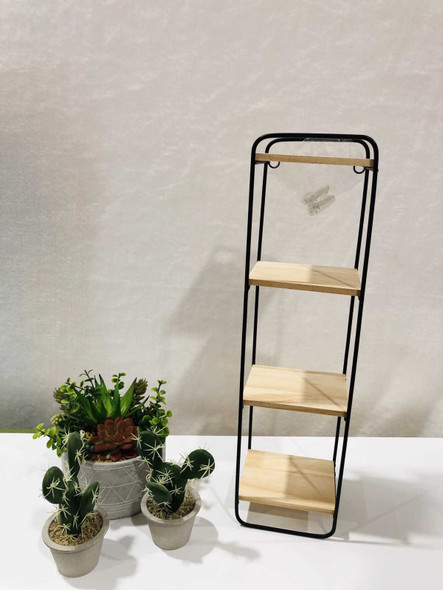 AC004L-B 4 Tier Shelves Black